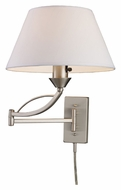 ELK 17016/1 Elysburg Satin Nickel 17 Inch Tall Swing Arm Wall Lamp