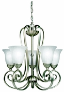 Kichler 1827 Willowmore Transitional 22 Inch Diameter Up Mounting Chandelier Lighting Fixture