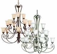 Kichler 1829 Willowmore Extra Large 15 Light Chandelier