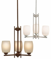 Eileen Bronze Or Nickel 13 Inch Tall Contemporary ini Chandelier