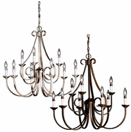 Kichler 2031 Dover Large 9 Lamp 32 Inch Diameter Candle Hanging Chandelier