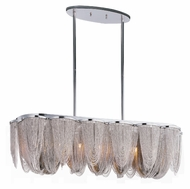 Maxim 21463NKPN Chantilly 39 Inch Wide Crystal Kitchen Island Light - Polished Nickel