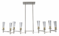 Feiss F2815/8BN/NB Celebration Modern Brushed Nickel 8 Lamp Island Light Fixture