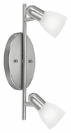 EGLO 27322A Dakar 2 Lamp 14 Inch Wide Matte Nickel Sconce Lighting