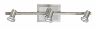 EGLO 20939A Rottelo Transitional 22 Inch Wide Matte Nickel Monorail Light Kit - 3 Lamp