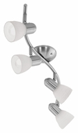 EGLO 88474A Dakar I 25 Inch Wide Matte Nickel Finish Waved 4 Lamp Monorail Lighting Kit
