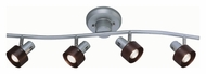 Lite Source LS16094 Duccio 4 Lamp Silver Finish Wall Mounted Monorail Lighting Kit