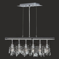 Worldwide W83110C24 Nadia 6 Lamp Crystal Island Lighting Fixture - 24 Inches Wide