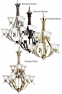 Kichler 2520 Dover 9 Light Double Tiered Transitional Chandelier Light Fixture
