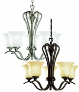 Kichler 10740 Wedgeport Nickel Or Bronze Transitional 5 Light Chandelier Light