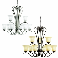 Kichler 10741 Wedgeport Transitional 32 Inch Diameter 2 Tier Hanging Chandelier - Fluorescent