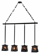 Meyda Tiffany 113099 Wildlife At Pine Lake 4 Lamp Rustic Style Silver Mica Island Lighting