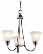Kichler 42883NI Nicholson Small 3 Light Chandelier in Brushed Nickel