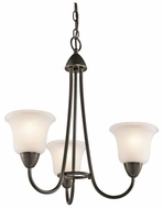 Kichler 42883OZ Nicholson 3-lamp Small Olde Bronze Chandelier Lighting