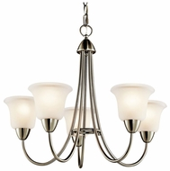 Kichler 42884NI Nicholson 5-light Medium Brushed Nickel Chandelier Lamp