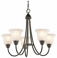 Kichler 42884OZ Nicholson Medium 5 Light Chandelier in Olde Bronze