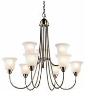 Kichler 42885NI Nicholson Large 9-light Brushed Nickel Lighting Chandelier