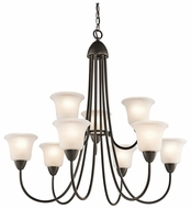 Kichler 42885OZ Nicholson 9-light Large Bronze Chandelier Fixture