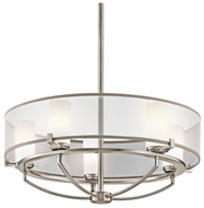 Kichler 42921CLP Saldana 5-Light Chandelier Lamp Fixture