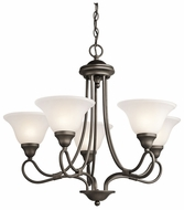 Kichler 2557OZ Stafford Medium Classic 5 Light Chandelier Lamp