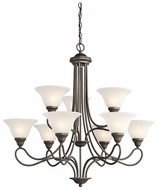 Kichler 2558OZ Stafford Traditional Large 9 Light Chandelier Fixture