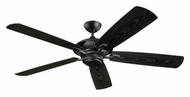 Monte Carlo Fans 5CY60BK Cyclone Matte Black 60 Inch Wide Transitional Ceiling Fan