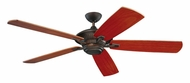 Monte Carlo Fans 5CY60RB Cyclone Transitional 5 Blade 60 Inch Wide Indoor Ceiling Fan - Roman Bronze