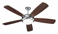 Monte Carlo Fans 5DI52PND Discus Polished Nickel Finish Modern 52 Inch Wide Ceiling Fan With American Walnut Blades