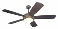 Monte Carlo Fans 5DI52RBD-L Discus Roman Bronze Finish 52 Inch Wide Modern Ceiling Fan Light Fixture