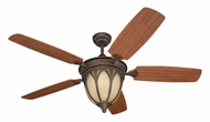Monte Carlo Fans 5GIR54RBD-L Grand Isle Roman Bronze 54 Inch Wide 5 Blade Ceiling Fan With Downlight