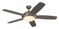 Monte Carlo Fans 5SLR52RBD-B Sleek Roman Bronze Contemporary 52 Inch Wide Fan Light Fixture