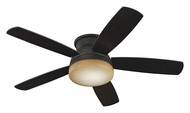 Monte Carlo Fans MC-5TV52RBD Traverse Flush Mount 52 Inch Wide Modern Roman Bronze Hugger Ceiling Fan