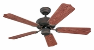 Monte Carlo Fans 5WF42RB Weatherford II Roman Bronze Finish 42 Inch Wide Indoor Outdoor Fan