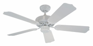 Monte Carlo Fans 5WF42WH Weatherford II Transitional 42 Inch Wide White Indoor Outdoor Fan