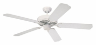 Monte Carlo Fans 5WF52WH Weatherford Outdoor 52 Inch Wide White Ceiling Fan - 5 Blades