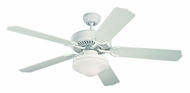 Monte Carlo Fans 5WF52WHD-L Weatherford Deluxe White Transitional 52 Inch Wide Indoor Outdoor Fan Light Fixture