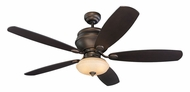 Monte Carlo Fans 5WS52RBD-L Weatherstar Roman Bronze Finish 52 Inch Wide Outdoor Ceiling Fan With Downlight