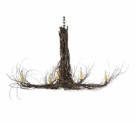 Meyda Tiffany 110175 Twigs Rustic Six Light Chain Chandelier