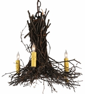 Meyda Tiffany 112367 Twigs Rustic Three-Light Chandelier