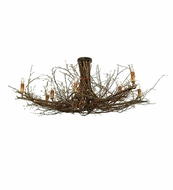 Meyda Tiffany 23222 Twigs Rustic Eight-Light Flushmount