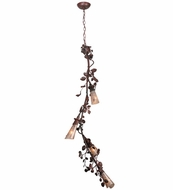 Meyda Tiffany 114383 Oak Mountain Vinca Vine Four-Light Rustic Chandelier