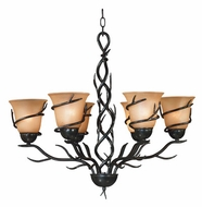 Kenroy Home 90900BRZ Twigs 6-Light Rustic Chandelier