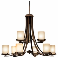 Kichler 1674OZ Hendrik 9-Lamp Chandelier in Olde Bronze