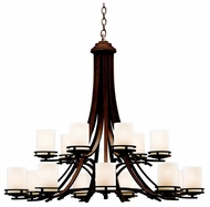 Kichler 1675OZ Hendrik 15-Lamp Chandelier in Olde Bronze