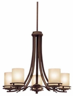 Kichler 1672OZ Hendrik 5-Lamp Chandelier in Olde Bronze