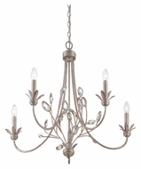 Quoizel WSY5005IF Wesley 5 Candle Italian Fresco Finish Medium Tropical Chandelier