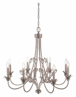 Quoizel WSY5008IF Wesley Italian Fresco Finish 30 Inch Diameter Tropical Style Candle Chandelier