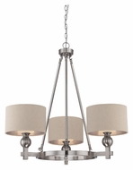 Quoizel CKMO5003BN Metro 3 Lamp Transitional 33 Inch Diameter Brushed Nickel Chandelier