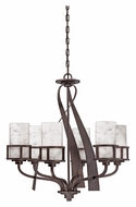 Quoizel KY5006IN Kyle Transitional 6 Lamp Iron Gate Finish Chandelier Lighting