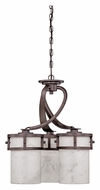 Quoizel KY5103IN Kyle 3 Lamp Downlight 20 Inch Diameter Iron Gate Chandelier Light
